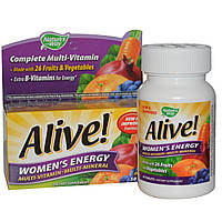 """Поливитаминный комплекс для женщин c мультиминералами """"Женская Энергия"""" Nature's Way Alive!, 50 таб"""