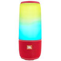 ☟Колонка BL JBL Pulse 3 Red со светомузыкой Bluetooth microSD USB емкая батарея портативная
