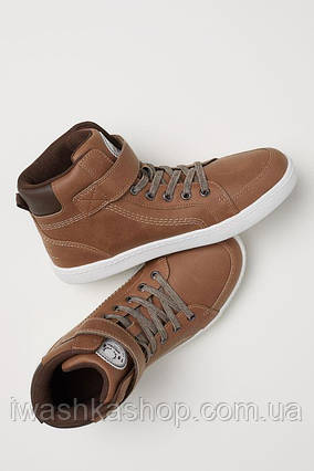 Демисезонные коричневые спортивные ботинки для мальчика 38 р. H&M