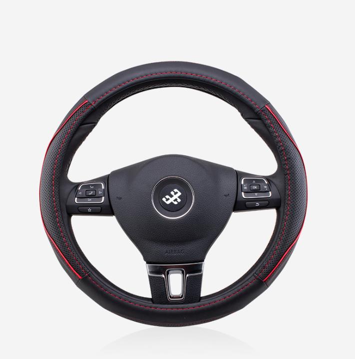 Чехол оплетка на руль кожаная для автомобиля Circle Cool натуральная кожа