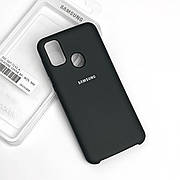 Силиконовый чехол на Samsung M30s  Soft-touch Black