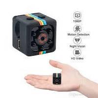 Мини камера SQ11 маленькая с ночной съёмкой+Датчик движения, Черный