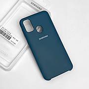 Силиконовый чехол на Samsung M30s  Soft-touch  Forest Green
