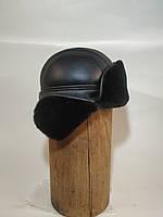 Мужская шапка ушанка из натурального меха овчины. Краматорка
