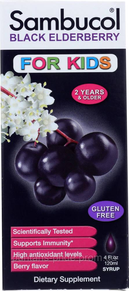 Сироп з чорної бузини, Sambucol, Black Квіти Syrup, For Kids, Berry Flavor, 4 fl oz (120 ml)