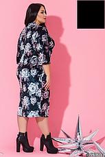 Платье женское велюровое большие размеры:50-60, фото 3