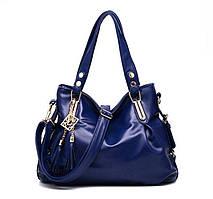 Женская сумка хобо с брелком кисточка Вместительный удобный аксессуар Отличные цвета Новинка Код: КГА0665