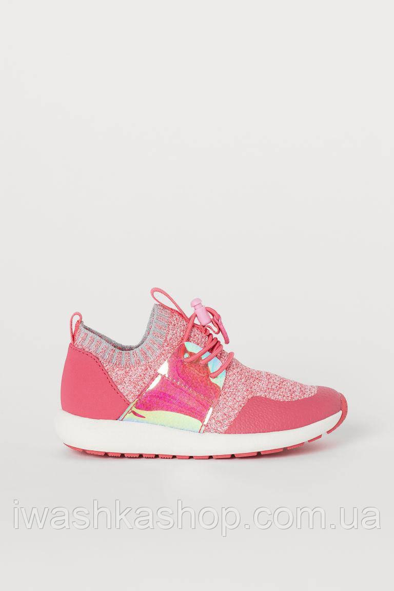 Блестящие текстильные кроссовки, спортивная обувь на девочек 32 р., H&M