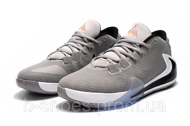 Мужские баскетбольные кроссовки  Nike  Greek Freak 1(Grey)