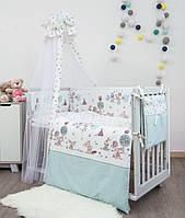Детский постельный комплект Twins Sweet Forest Mint SW-011 8 предметов, фото 1