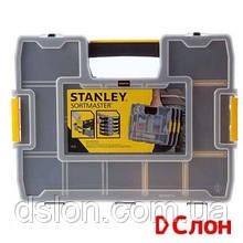 """Органайзер STANLEY 1-97-483 """"Sort Master Junior"""" пластмассовый, 375х65х292мм, с переставными перегородками."""