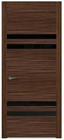 Двери межкомнатные (дубовый шпон крашенный) Рио со стеклом Лакобель блок