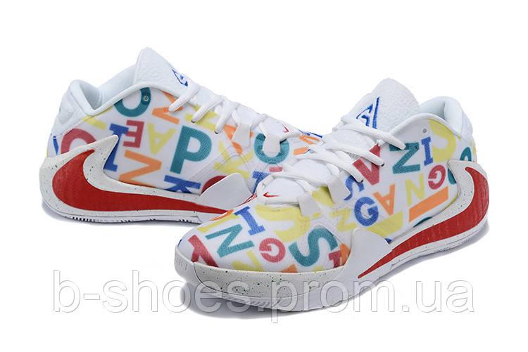 Мужские баскетбольные кроссовки  Nike  Greek Freak 1(White/red)
