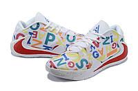 Мужские баскетбольные кроссовки  Nike  Greek Freak 1(White/red), фото 1