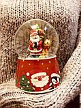 Водяной шар Музыкальный Дед Мороз на санях, фото 2