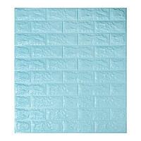 Самоклеющиеся обои Декоративная 3D панель ПВХ 1шт, голубой кирпич
