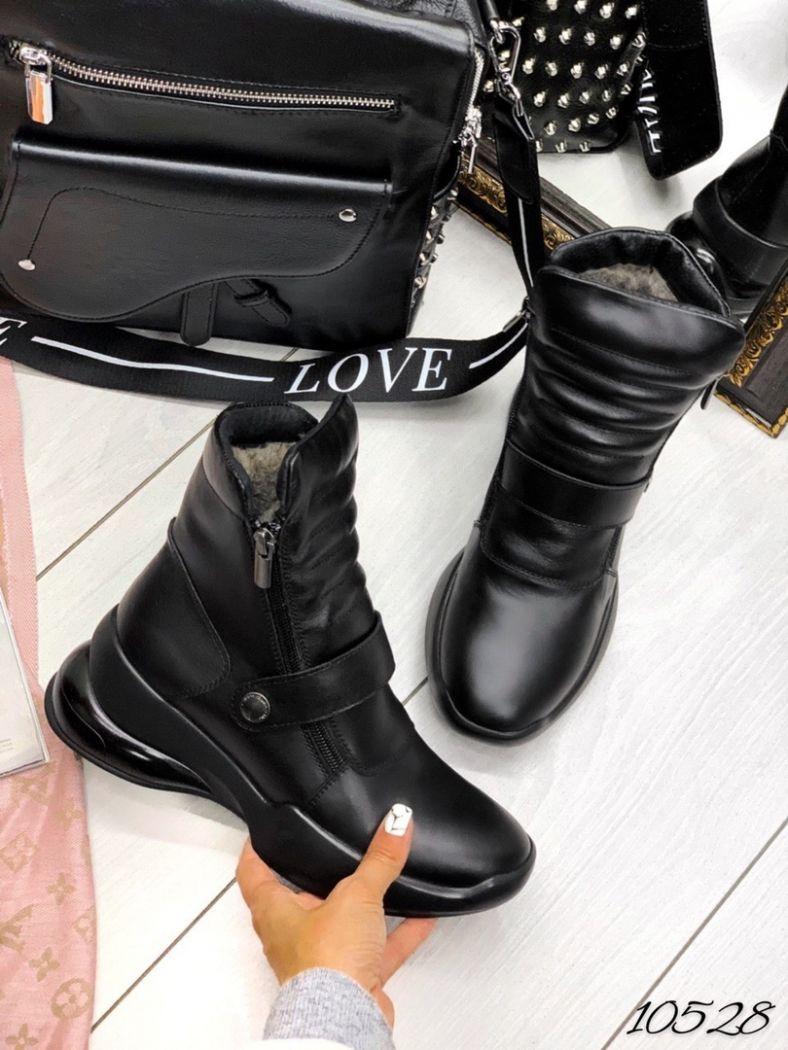 Ботинки зима Casual чёрная кожа натуральная кожа
