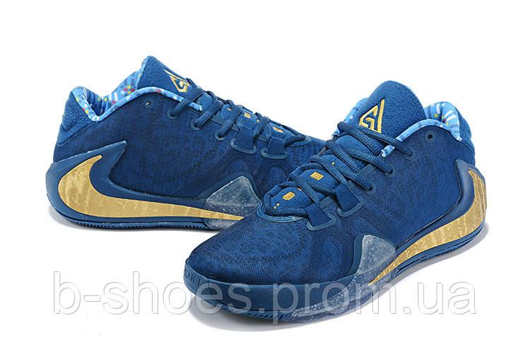 Мужские баскетбольные кроссовки  Nike  Greek Freak 1(Blue/yellow)