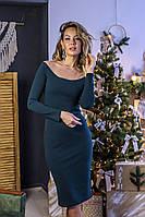 Трикотажное с напылением ( блеск) нарядное платье (42-58), фото 1