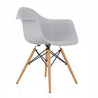 Кресло Тауэр Вуд, деревянные буковые ножки, пластик, цвет серый