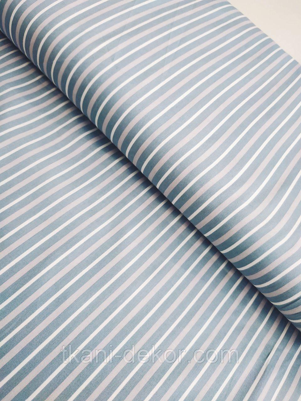 Сатин ( премиум ткань)  на сером полоска (компаньон к перышкам)(65*160)