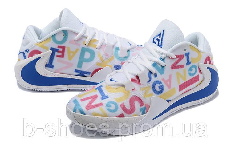 Мужские баскетбольные кроссовки  Nike  Greek Freak 1(White/blue)