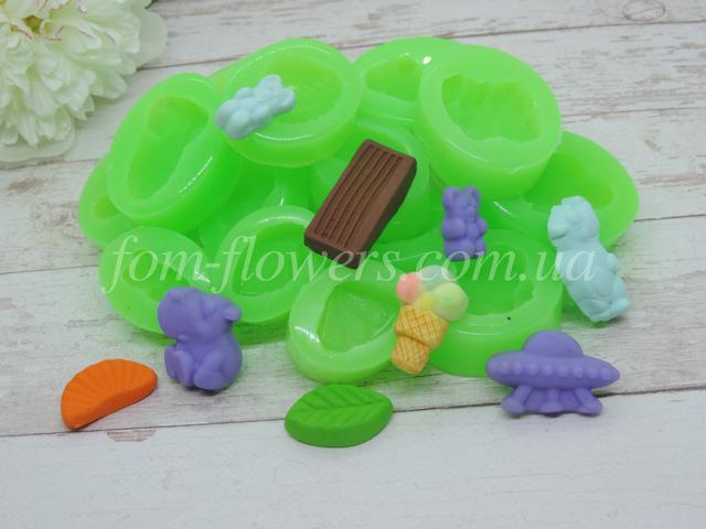 Силиконовые формы сладостей для полимерной глины