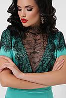 Кружевное атласное платье Дафния, S, M, L, XL