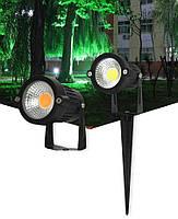Світильник ландшафтний KL-2503 Spike в грунт COB 5W LED yellow 230V IP65 комплект 2шт, фото 7