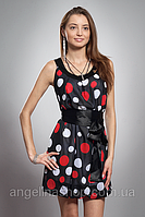Платье женское мод №413-1, размеры 42-46 красн. горох