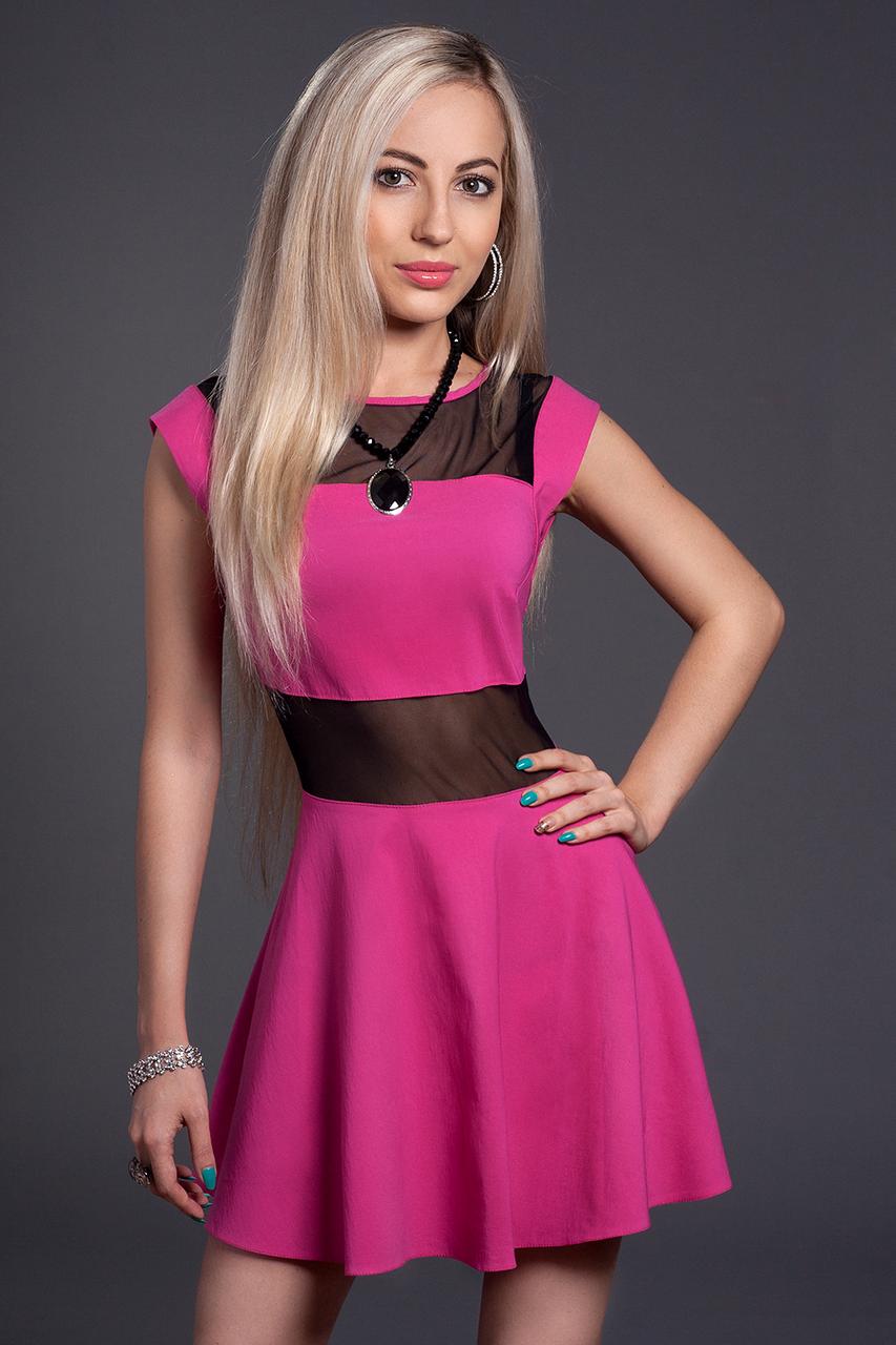 Платье женское модель №349-3, размеры 42,44,46 малина