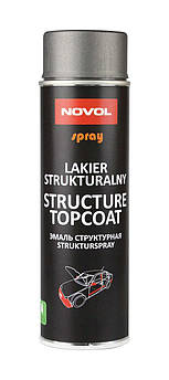 Эмаль структурная для пластика Novol Spray, 500 мл Аэрозоль Антрацит