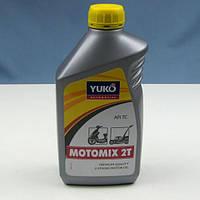 Масло YUKO MOTOMIX 2T (TC) для двухтактных бензиновых двигателей (канистра 1л), фото 1