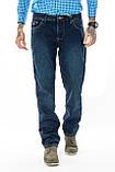 Мужские джинсы утепленные Franco Benussi 20-140 TORINO темно-синие, фото 2