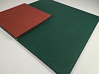 Резиновая плитка для спортзалов 1000х1000x10 мм.Зеленая., фото 1