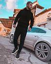 Мужской черный спортивный костюм, фото 2