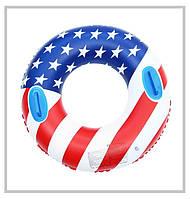 Надувной круг с флагом америки