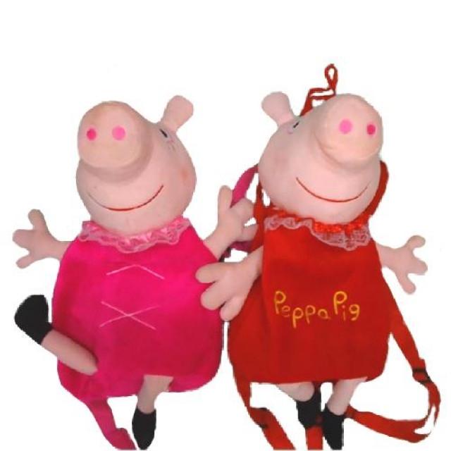 М'який рюкзак Свинка велюр 33*21 см