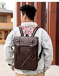 Рюкзак городской Deep Person из кожи темно-коричневый (1881), фото 2