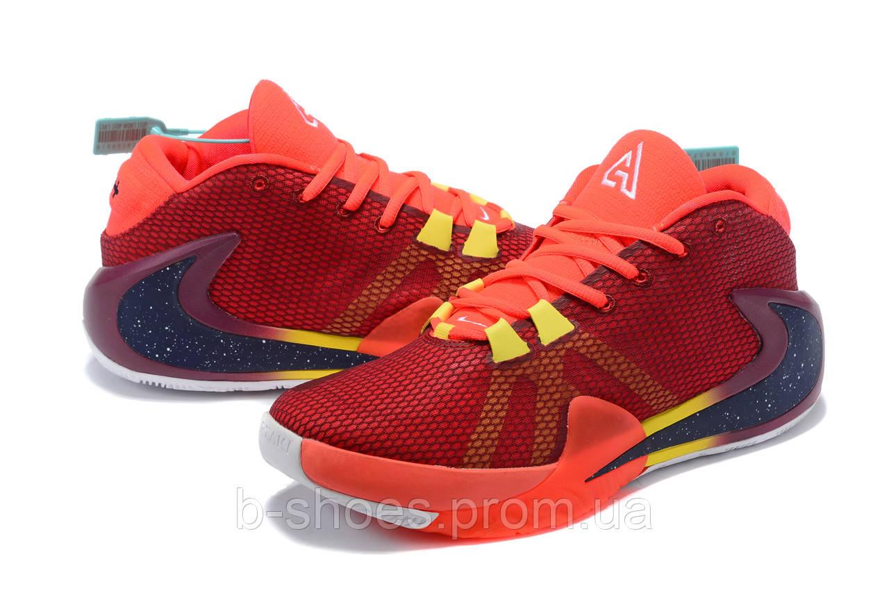 Мужские баскетбольные кроссовки  Nike  Greek Freak 1(Red)
