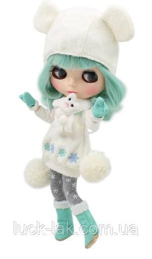 "Набор одежды для куклы Блайз Bluth ""Мятная снежинка"" с шапкой с ушками"