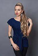 Блуза мод №496-4, размеры 44,46 темно-синяя