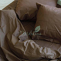 Однотонное коричневое постельное белье MDreams Евро 220х240