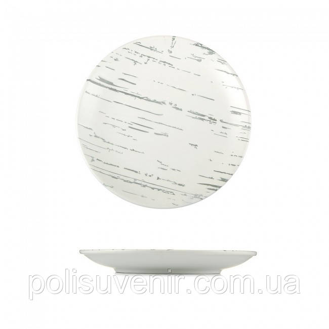 Тарілка дрібна світлий камінь 205 мм