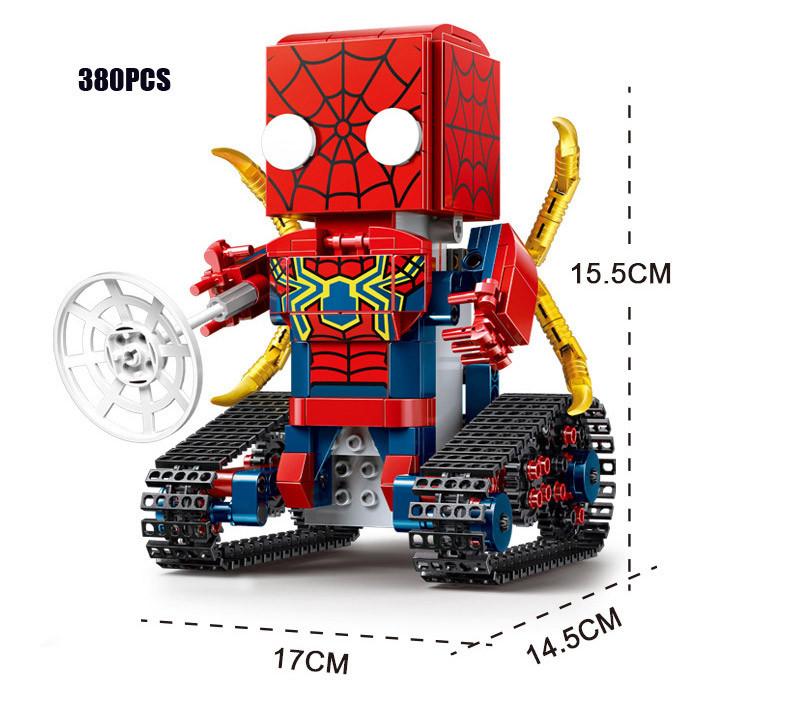 Конструктор Супер Герои Спайдермен на Радио Управлении Square Headed (Аналог Lego) 380 деталей