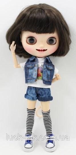 Набор пиджак, шорты, майка и чулки-гетры для куклы Блайз, Айси