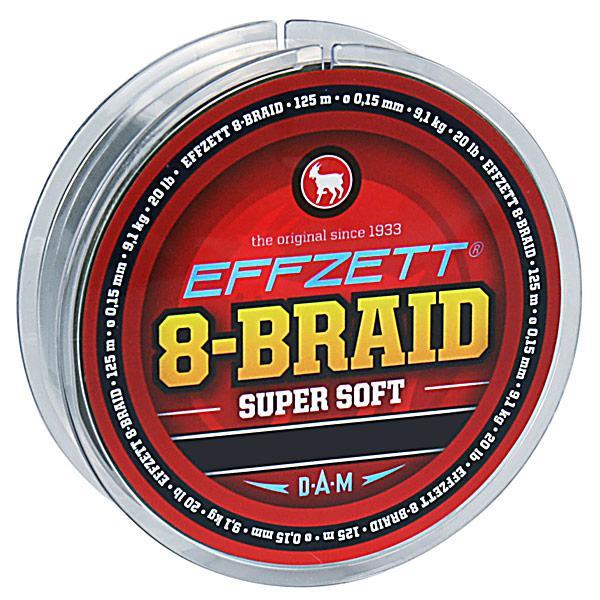 Шнур DAM Effzett 8-Braid 125м 0,20мм 18,1кг/40Lb (moss green)