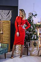 Нарядное платье украшенное сеточкой флок по плечам (42-58), фото 1