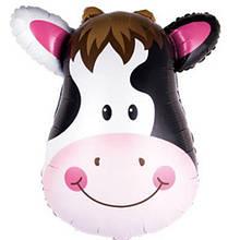 Фольгированный шар большая фигура корова голова 45,5х55см Китай