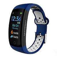 Фітнес браслет Smart Band MX Q6S 3D дисплей Тонометр (Синьо-білий)
